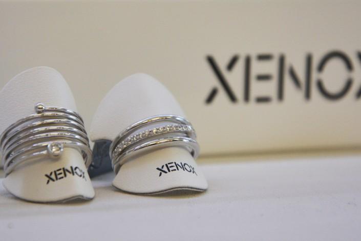 Xenox Silberringe mit Zirkonia