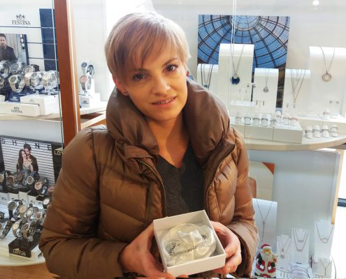 Gewinnerin Ti Sento Silberarmreif bei Juwelier adoro