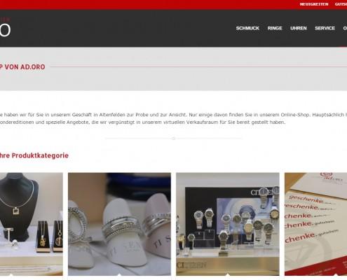 Juwelier adoro Schmuck-Onlineshop