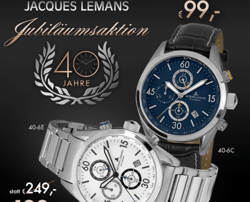 Juwelier adoro, Jacques Lemans Jubiläumsaktion
