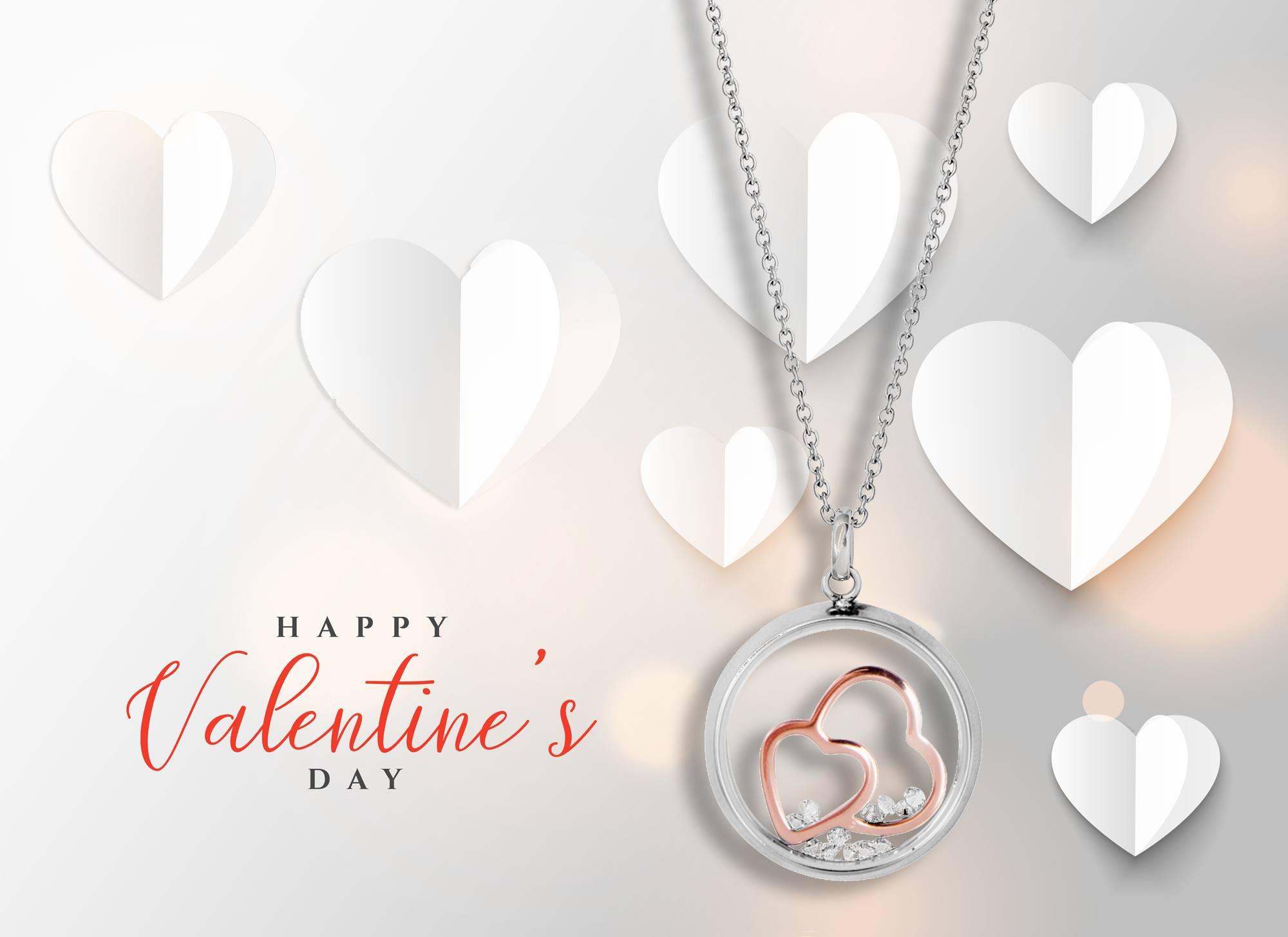Am Valentinstag Schmuck für die Herzensdame