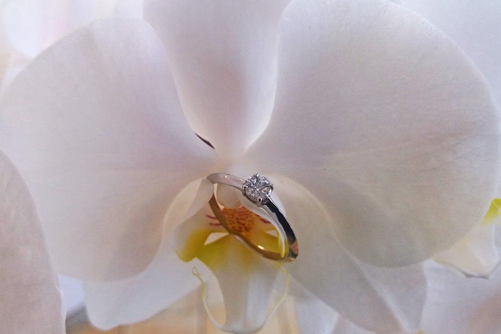 Weißgold Ring von Palido
