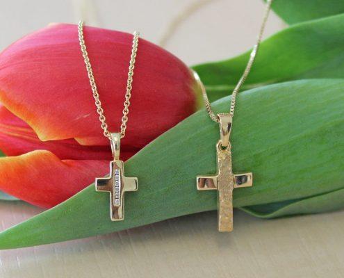 Erstkommunion Anhänger Kreuz Gold Juwelier Rohrbach