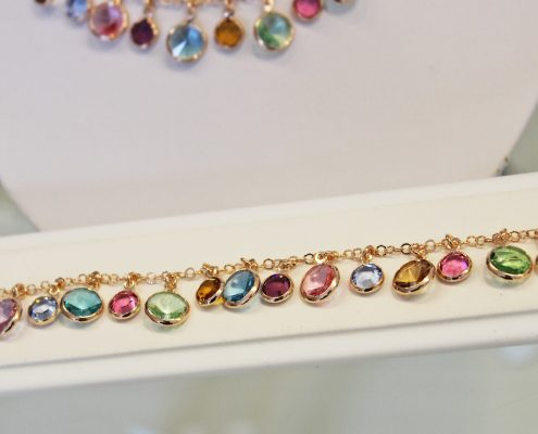 Armband Silber rose vergoldet Farbsteine bunt Juwelier Rohrbach