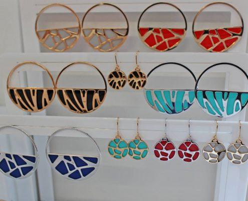Les Georgettes Armreifen Ringe AnhängerOhrschmuck Einlagen Farben zum Wechseln Juwelier Rohrbach