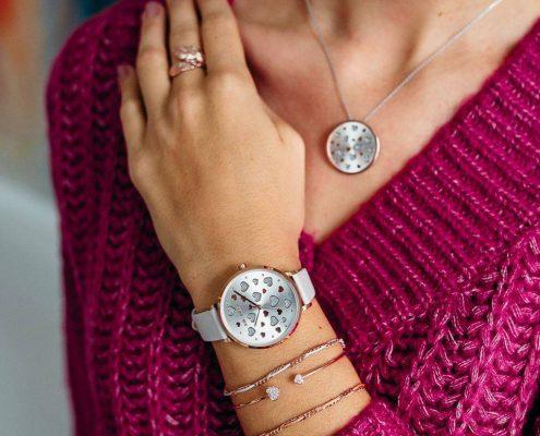 Julie Julsen Amore Uhr Anhänger Set Herz Juwelier Rohrbach