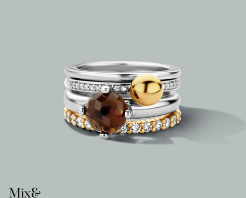 Ti Sento Ring Silber vergoldet Juwelier Bezirk Rohrbach
