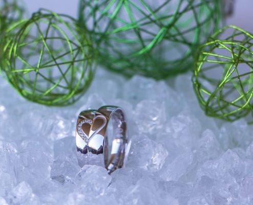 Eheringe Weißgold Diamant Palido adoro Altenfelden