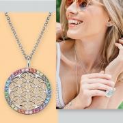 Engelsrufer Blume des Lebens Silber Anhänger Chakren Juwelier adoro