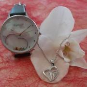 Herz Weißgold Uhr Engelsrufer adoro